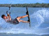 Kitesurfing in Brazil — Stock Photo