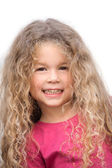 Little girl portrait cute smiling — Stock Photo