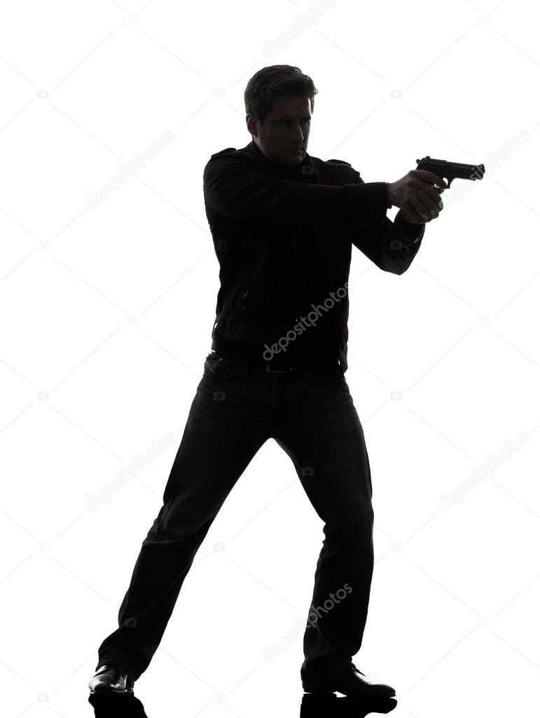 Killer Man With Gun One Man Killer Policeman