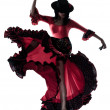 Woman gipsy flamenco dancing dancer — Foto Stock