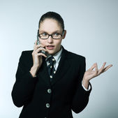 Business woman on the telephone — Stock Photo
