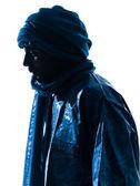 Man Tuareg Portrait silhouette — Stock Photo