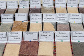 Quinoa types in Lima Peru — Stock Photo