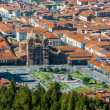Stock Photo: Aerial view of Plazde Armas Cuzco city peruviAndes