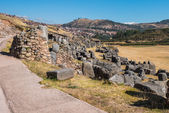 Sacsayhuaman ruins peruvian Andes Cuzco Peru — Stok fotoğraf