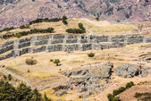 Sacsayhuaman ruins peruvian Andes Cuzco Peru — Foto Stock