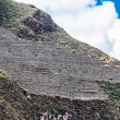 Stock Photo: Pisac ruins peruviAndes Cuzco Peru