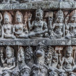 Stock Photo: Stone carving detail angkor thom cambodia