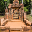 Stock Photo: Banteay Srei hindu pink temple cambodia