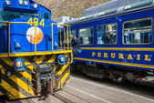 Perurail train peruvian Andes  Cuzco Peru — Stock Photo