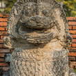 Stock Photo: Lion statue Wat Thammikarat temple