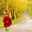 The little girl running — Stock Photo
