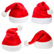Set of red Santa Claus hats — Stockfoto