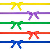 Multi colored ribbon bow — Stock Photo
