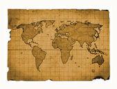 Karta świat — Zdjęcie stockowe