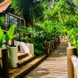 The wooden road about tropical hotel — Stock Photo #26723407