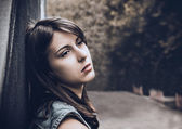 Lonely sad girl — Stockfoto