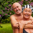 Stock Photo: Garden seniors
