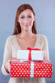 Female gifts — Stock Photo