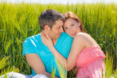 Lovers in green — Stock Photo