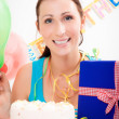 Birthday woman — Stock Photo