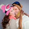 Stock Photo: Winter fun couple