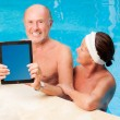 Poolside matures - Stock Photo