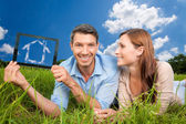 Real estate couple — Stock Photo
