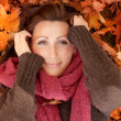Stock Photo: Beauty autumn female