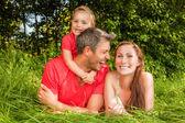 Famiglia verde — Foto Stock