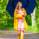 Singing the rain — Stock Photo #35444937
