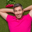 Stock Photo: Rose love man