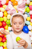 Easter childhood — Stock Photo