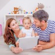 Tablet family — Stockfoto