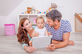 Tablet family — Stock Photo