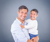 Like the father so the son — Stock Photo