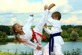 Sport karate — Stock Photo