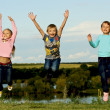 Stock Photo: Happy children in flight