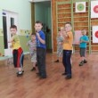 Preschool children on sports training — Vídeo de stock