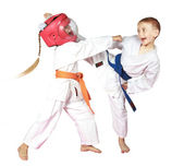 Beautiful sport karate — Stock Photo