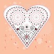 Ornamented heart. - Image vectorielle