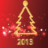 2013.christmas-baum von goldmünzen. — Stockvektor