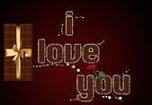 Chocolate text I love you. — Stock Photo