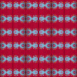 Seamless simple red pattern with hearts. - Stock Photo