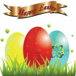 Happy easter,easter eggs. — Stock Vector