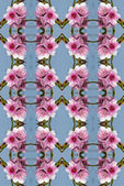 Seamless peach flowers pattern. — 图库照片