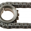Royalty-Free Stock Photo: Stretched chain around the gears
