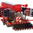 Stock Photo: Agriculture with drill seed
