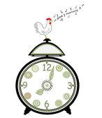 Reloj musical — Vector de stock