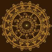 круглый орнамент — Cтоковый вектор
